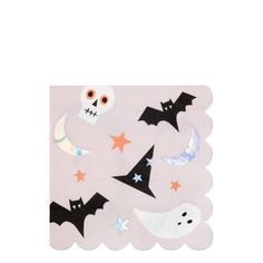 Meri Meri Halloween Icons Napkins - The Original Party Bag Company Halloween Icons, Halloween Costumes For Girls, Halloween Cat, Halloween Party Supplies, Halloween Party Decor, Halloween Table, Skull Cupcakes, Holographic Foil, Balloon Bouquet