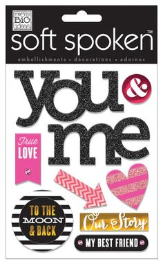 Stickers > 3-D Stickers > True Love You & Me Soft Spoken Embellishments - Me And My Big Ideas: A Cherry On Top