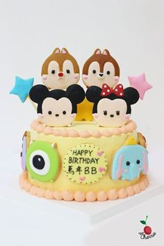 Disney Tsum Tsum Cake Icing cookies decoration
