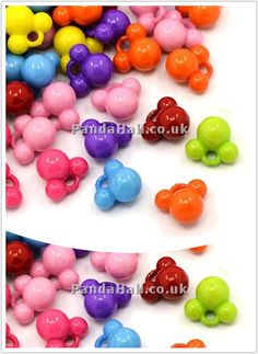 http://www.pandahall.co.uk/PromotionList/all/0-0-1-1-1.html   Colorful Acrylic Charms, Mouse, Mixed Color, 13x14x10mm, Hole: 3mm