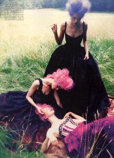 Vogue Italy Supplement Editorial September 1997 - Michele Hicks, Esther Canadas and Others by Ellen Von Unwerth
