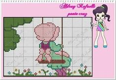 Cross Stitch Baby, Cross Stitch Patterns, Sunbonnet Sue, C2c Crochet, Alpha Patterns, Stitch 2, Hama Beads, Sweet Girls, Projects To Try