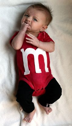 Soooo cute!! Trying to figure something out for Abigail's first Halloween :) tiny rocket: DIY: Super Cute Baby M Costume