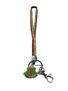 Alpha Kappa Alpha Two-strand Color Bling Lanyard - $14.95 : Captivations, Stylish and fun shower caps for everyone