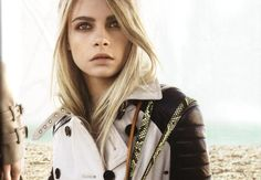 cara delevingne for burberrry - <3 those brows, that jacket