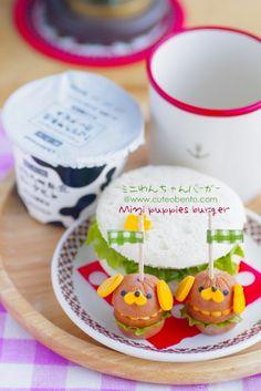 Mini puppies Burger #cute #food