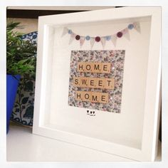 A personal favourite from my Etsy shop https://www.etsy.com/uk/listing/468260787/home-sweet-home-gift-framed-keepsake