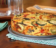 Summer Vegetable Torta (Low Carb and Gluten Free) | All Day I Dream About Food