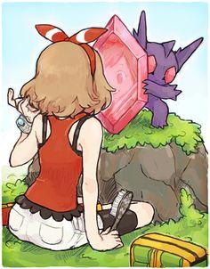 Mega Sableye giving its trainer a mirror. Pokemon Rosa, All Pokemon, Pokemon Fan Art, Cute Pokemon, Pokemon Stuff, Lugia, League Of Legends, Pokemon Omega Ruby, Pokemon Photo