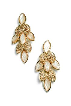 Marquise Sasha Earrings in Iridescent Ivory on Emma Stine Limited
