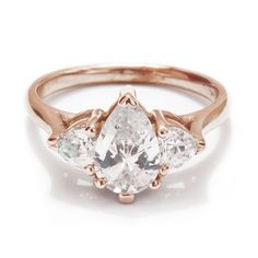 This memorable moissanite trio: | 32 Insanely Sparkly Engagement Rings That Don't Use A Single Diamond