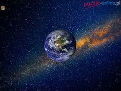 Ziemia, Księżyc, Kosmos, Planety, Gwiazdy