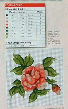Cross Stitch Love, Cross Stitch Flowers, Cross Stitch Charts, Cross Stitch Patterns, Bordado Tipo Chicken Scratch, Stitch 2, Rose Bouquet, Quilt Blocks, Needlepoint