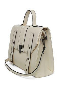 Ivory Top Handle Crossbody Bag