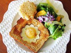 Daisy Eggs in Toast - love it!