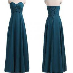 Sweetheart Atrovirens Chiffon Bridesmaid Dresses ,A Line Floor Length Ruffles Bridesmaid Dress,Lace up Back Cheap Bridesmaid Dresses,Bridesmaid Gowns,Simple Prom Dresses