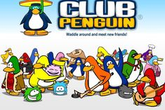 """If you don't know, Club Penguin is an online game where users """"waddle around"""" as cartoon penguins and interact with each other. Its touted as """"Disney's Virtual World For Kids. Club Penguin, Google Penguin, Top Dating Sites, Trump Protest, Apps, Meeting New Friends, Games For Kids, Fun Games, Cartoon Network"""