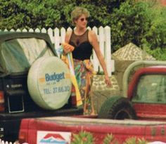 February, 1995: Princess Diana on holiday in St. Barts, West Indies.
