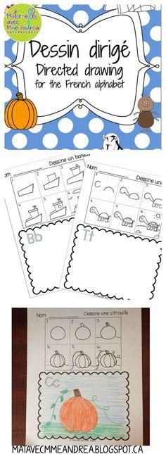 Dessin dirigé - aidez vos élèves à apprendre les lettres de l'alphabet ET à faire les dessins plus détaillés! Nouvelle mise à jour le 6 août 2015