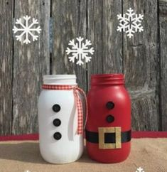 The kids can get involved with this Mason Jar Christmas craft and personalise it as much as possible. So great for edible gifts, as lolly jars, fill with Christmas flavoured nuts, use as cutlery holders or as a vase or centrepiece.  Via Etsy. Mason Jar Christmas Crafts, Diy Christmas Gifts, Cheap Christmas, Homemade Christmas, Christmas Ideas, Christmas Tree, Christmas Ornaments, Holiday Centerpieces, Xmas Decorations