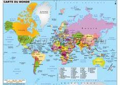 Buy Spanish World Map online Free Printable World Map, Printable Maps, Flat World Map, World Geography Map, Geography Quiz, World Political Map, World Globe Map, World Map With Countries, Word Map