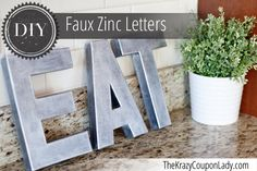 DIY Anthropologie-Inspired Faux Zinc Letters - The Krazy Coupon Lady