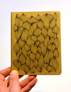 Hand drawn organic pattern on a kraft paper notebook by AbsentMind