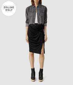 Women's Twine Li Skirt (Black) -