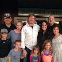 Chip and Joanna Gaines with their children and parents