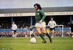 Northern Ireland's George Best looks to take on the England defence at Windsor Park in 1971