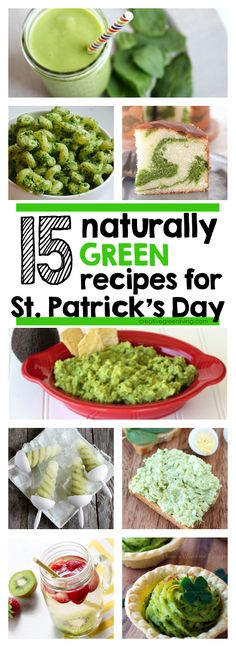 15 naturally green (and healthy!) recipes for St. Patricks Day. Perfect for picky kids.