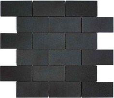 "Basalt Mosaic Subways 2x4"""