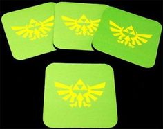 Legend of Zelda Triforce Game Wedding Favor 4 Coaster Set Patch Gift COA-0082