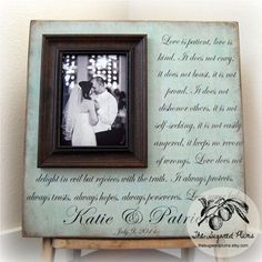 beautiful wedding gift - personalized frame for the bride and groom to hang in their new home. Want this <3