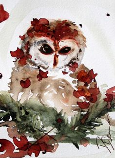 Hey, I found this really awesome Etsy listing at https://www.etsy.com/listing/120201703/original-watercolor-painting-of-owl-art
