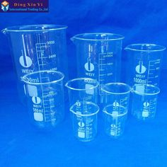 Cheap glass stirrer, Buy Quality glass tubbing directly from China glass chrome pendant light Suppliers: Glass Beaker 5 Pcs Set Low Form Brand New High Quality Lab Supplies, Liquid Measuring Cup, Measuring Scale, Facebook Brand, Office And School Supplies, Paint Pens, Pint Glass, Chemistry, Flask