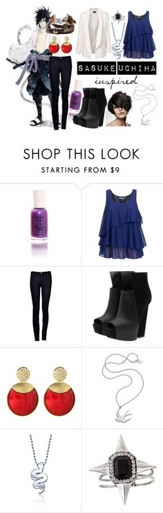 """Sasuke Uchiha Inspired Outfit"" by hoorayforpie ❤ liked on Polyvore featuring S.W.O.R.D., Sally Hansen, Soaked in Luxury, Gareth Pugh, Amrita Singh, Meadowlark, Alex Woo, Yochi and American Eagle Outfitters"