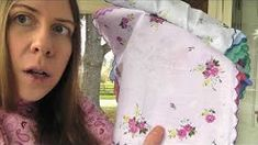 ladies handkerchiefs images - YouTube Summer Quilts, Quilt Blocks, Handkerchiefs, Costume, How To Plan, Sewing, Lady, Pretty, Linens