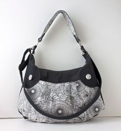 Zippered Hobo Bag with removable cross body strap in by bluecalla, $88.00