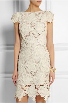 Lover Star crocheted cotton-lace mini dress NET-A-PORTER.COM