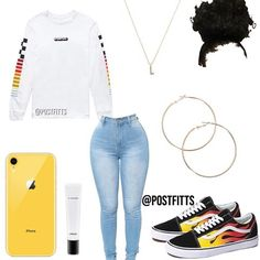 School outfits for Girl in fall with Jeans - Cocomew is to share cute outfits and sweet funny things Boujee Outfits, Baddie Outfits Casual, Swag Outfits For Girls, Cute Teen Outfits, Teenage Girl Outfits, Cute Comfy Outfits, Teenager Outfits, Teen Fashion Outfits, Looks Plus Size