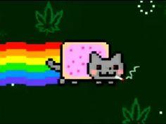 Nyan Cat on WEED!!! [original] (Pot Tart Cat) HA HA HA HA AHA HA!!!!!!!!!!!!!