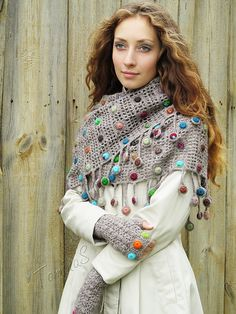 Autumn drops set – Knitting News Crochet Diy, Crochet Motifs, Freeform Crochet, Crochet Shawl, Crochet Patterns, Crochet Summer, Knitted Shawls, Crochet Scarves, Crochet Clothes