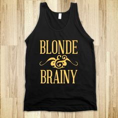 Blonde and Brainy