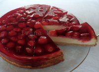 Cheesecake s jahodami Easy No Bake Desserts, Mini Cheesecakes, Sweet Cakes, Cheesecake Recipes, Sweet Recipes, Panna Cotta, Waffles, Deserts, Food And Drink