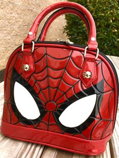 Spiderman Patent Leather Dome Handbag