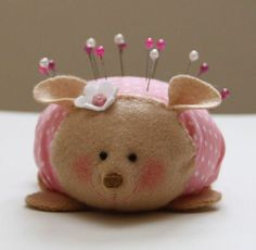 Cute hedgehog pincushion tutorial. Instructions in Spanish