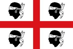 Sardinia (Sardegna) is a region of Italy, and this traditional Sardinian flag dates to the late century. The white field is dominated by a red cross, and four moors heads. Cagliari, Foto Transfer, Holy Roman Empire, Sardinia Italy, Regions Of Italy, Flags Of The World, Mediterranean Sea, National Flag, Freckles