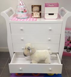 Pretty Storage Solutions For Your Babyu0027s Necessities. Baby Direct Royal  Sleigh #Chest Drawer. Change Table ...