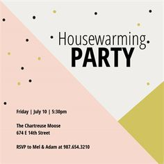 tri tone printable housewarming invitation template housewarming party